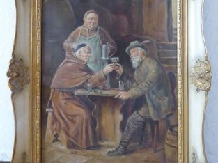 "Oil painting ""Old friends after Grützner"""