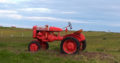 red tractor vintage