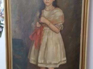 Large oil painting from Richard Vogts with a child