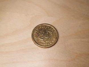 Wrong minted – 50 Rentenpfennig 1924 J