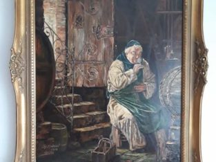 Painting by N.Grutzner in 1880 . Painting is calle
