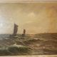Gemälde Fischerboote – painting fishing boat