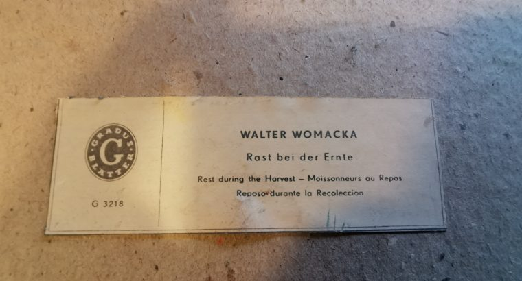 Walter Womacka ( Rast bei der Ernte )  Rest at the harvest