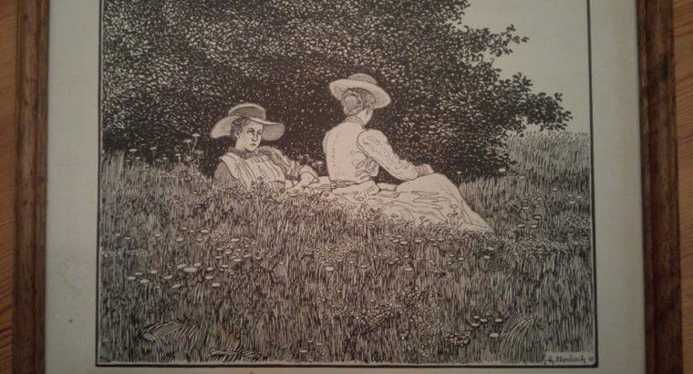Bleistiftzeichnung, Oberdieck, ca. 1908/1910 Pencil drawing
