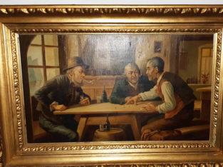 Oil Painting drinking men