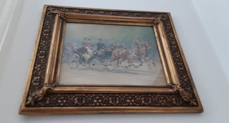 Horse-drawn race