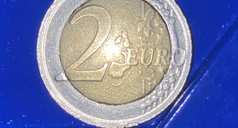 2€ Mint Error Queen Elisabeth Belgium