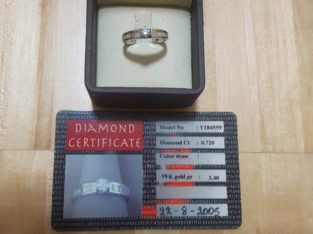 Diamond ring with certificate