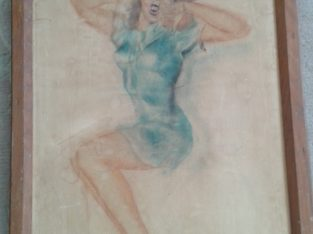 Pinup Girl hand painted – handgemalt