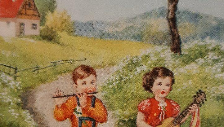Vintaga Drawing children