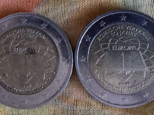 "Double-sided embossing coin: Doppelprägung ""Römische Verträge"" 2 Euro"