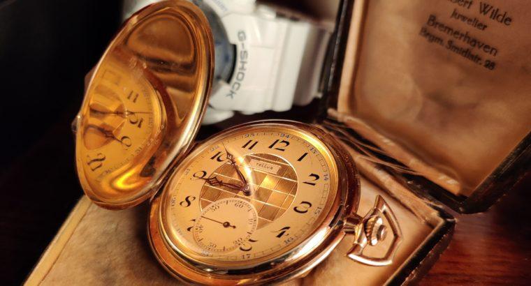 Tellus Taschenuhr / Pocket watch