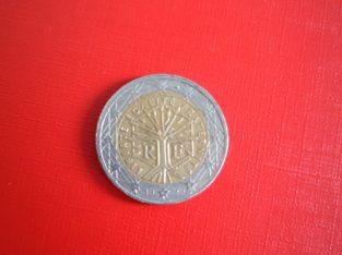 2 Euro coin/Münze France/Frankreich 1999