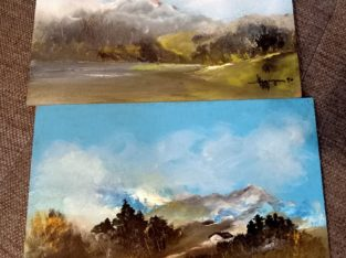Two landscape paintings