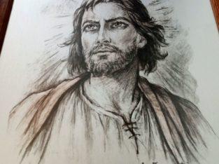 """Painting """"Jesus"""" by Guiseppe Tarantino"""