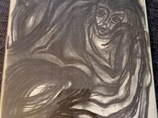 "Painting ""düstere Erscheinung"" gloomy appearance"