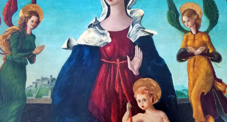 The virgin with child and angel