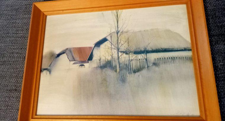 """Painting """"Mühlviertler Bauernhof"""" Mühlviertel farm"""