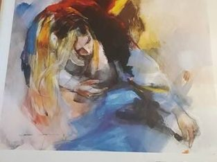 "Painting ""greifend nach etwas"" reaching for something Christine Comyn"