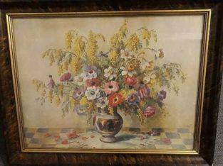 """Painting """"Blumenstrauß in Vase"""" Bouquet in Vase"""