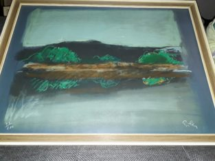 gloomy landscape painting – düsteres Landschaftsbild