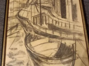 """Painting """"Boote"""" boats"""