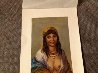 "Painting: ""Zigeunerin"" Gypsy woman"