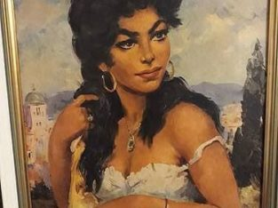 "Painting Perky Gypsy ""kesse Zigeunerin"""