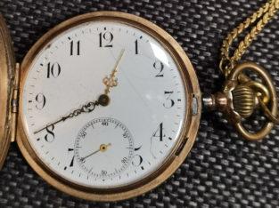 Pocket watch, Heinrich Cohen Jr München, Gold 0.585, working condition