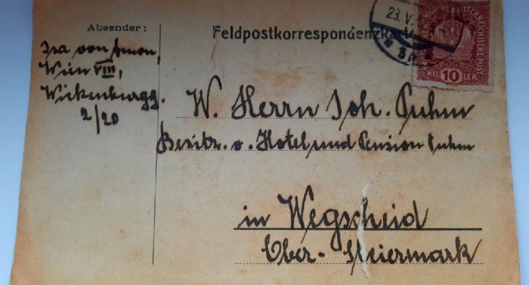 Field post correspondence