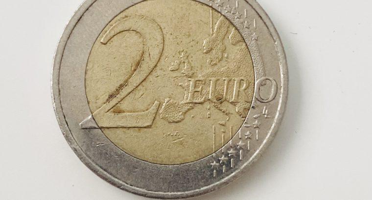 mint error coin – 2 Euro Seltene Münze WWU 1999-2009 Fehlprägung