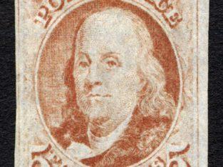 5c Franklin single stamp