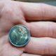 Coin corrugated core – 2 Euro Münze 2014 F Fehlprägung Kern geriffelt