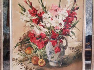 Painting gladiolus – Gemälde Gladiolen
