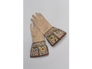 Glove with high collar