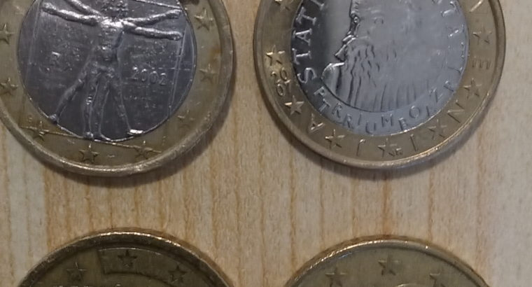 coins: 50 Cent und 1 Euro Münzen
