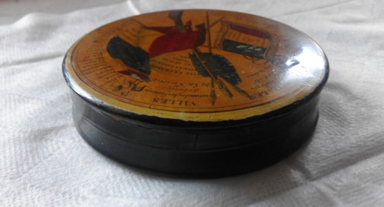 Wooden Tobacco Box (with Napoleon's battles?)