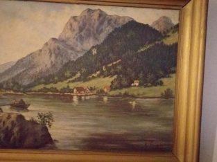 Oil painting signed by K.Enigk  – Ölgemälde von K.Enigk signiert