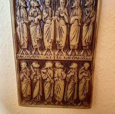 wax art 12 Apostel Wachs Bild – width/Breite: 12cm – Height/Höhe: 18cm – Depth/Tiefe: 2cm –