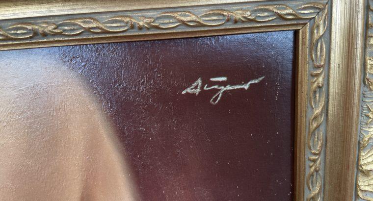 Oil painting signed Puri / Ölgemälde signiert P. Aigner
