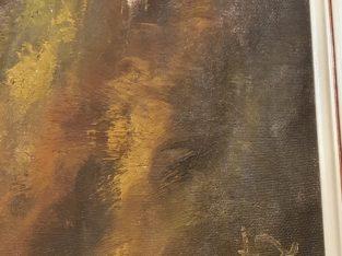 Oil painting signed by Johann Wirtz – Ölgemälde signiert von Johann Wirtz – Voralpen