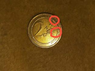 Belgian 2 Euro coin – Belgische 2 Euro Emu Münze, Fehlprägung